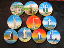 Custom round shaped plastic fridge sticker dubai refrigerator magnet