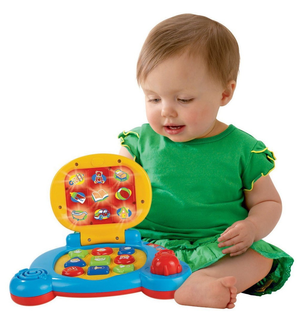 2015 new hot baby's learning laptop toy with sound and music, baby learning computer toy wholesale from icti factory