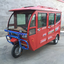 Big Size Electric Tricycle 5 Doors 6 Seats Closed Body Solar Electric Tricycle Adult Made in China