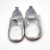 Very shiny mary jane shoes wholesale fashion genuine leather baby shoes