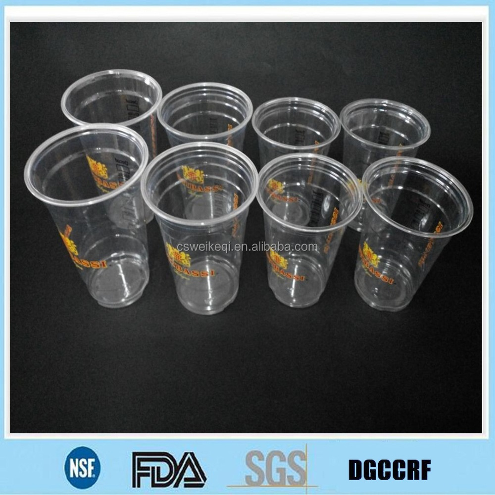 printed beer drinks cups,cold drinks PET cups and lids,printed ice cream PET plastic cups