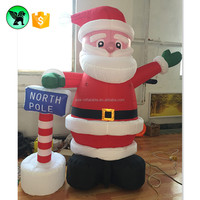 2m Father Christmas Santa Inflatable Claus Cartoon / Christmas Promotional Inflatable A904