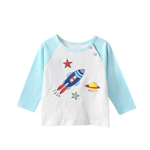 Baby Autumn Clothes Price Low With Pattern Printed Autumn 2016 New Style Long Sleeve T Shirt