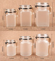 2017 New arrivel 100g 200g 300g 400g 500g empty body scrub jars / frosted jar with spoon