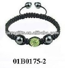 Fashion 2 row shamballa bracelet