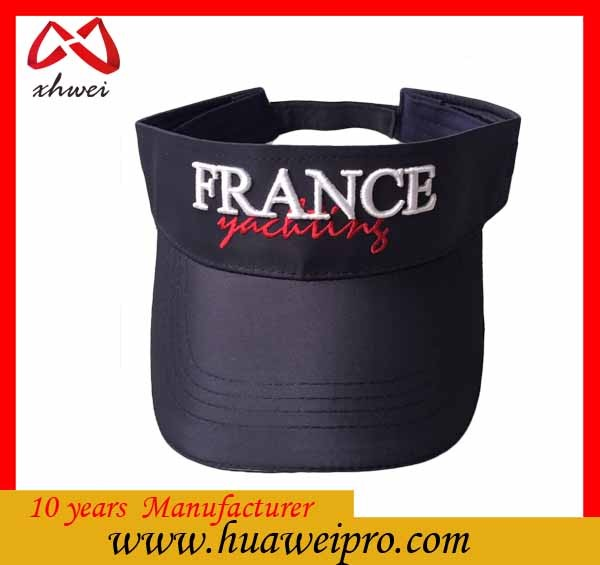China headwear oem 2016 hot new product customized high quality 3D embroidery golf sun visor cap
