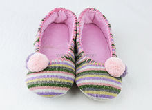 GCE017 Knitted with velboa 2012 italian matching crochet pretty ballerinas slippers shoes and bags