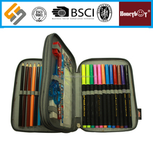 High Quality 600D polyester 2 zipper pencil case
