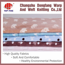 100% polyester high quality printed cutting pile flannel fleece fabric