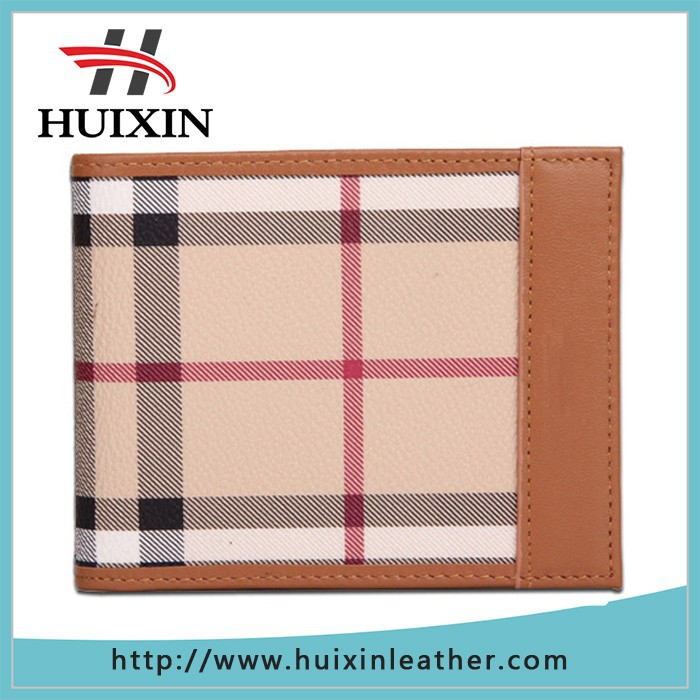Guangzhou Grid wallet genuine leather in Stamping handcraft