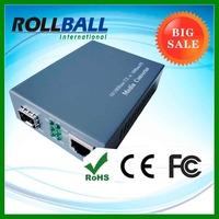 Fast Ethernet single mode/multimode SC/ST/FC Cat 5e Cat 6 120km media converter fiber optic communication