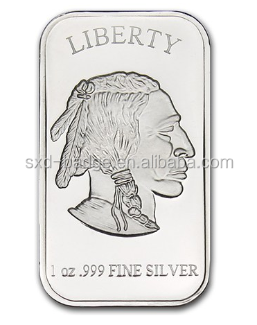 Custom 925 Pure silver coin and bar /Hot Sales Silver Buillion bar