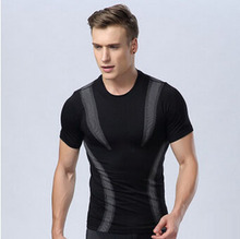 HOT men's slim fit sports t shirt