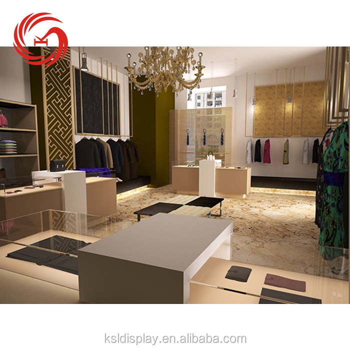 High quality retail clothing shop display furniture interior decoration fitting