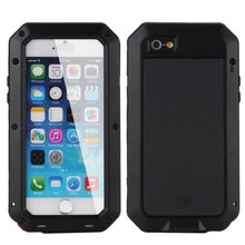 i5/6/7 Luxury Shockproof Waterproof Aluminum Tempered Glass Metal Cover Cell Phone Case For iPhone 6 7 6S 5S