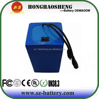 2016 hot selling long cycle life 12V 24V 15Ah 20Ah lifepo4 lithium battery pack for electronic cigratte scooter etc