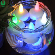 Promotional Waterproof Led Flameless Light Candle, Colorful Led Floating Candles