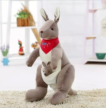 Plush Stuffed Australia Kangaroo Soft Toy Baby Kangaroo Plush Toy Plush Kangaroo