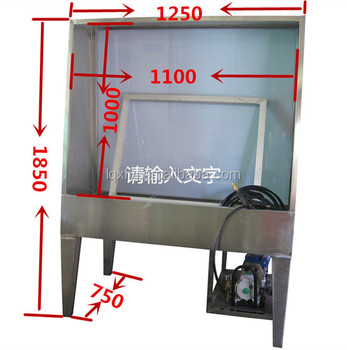 stainless steel screen washing tank for washing emulsion