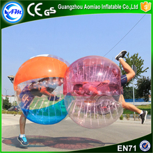 Newly 0.8mm PVC football inflatable body zorb ball bubble ball soccer belly bumper ball for adults