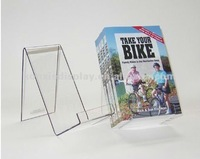 customized acrylic open book display stand