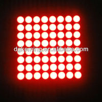 super bright 32x32mm 8x8 red led matrix display
