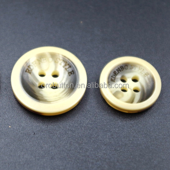 Garment accessories resin buttons for fur coat