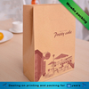 Brown white kraft paper bread loaf donut french baguette take away paper bag