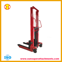 1 ton Load Capacity 1.6m Hydraulic Hand Forklift Manual Stacker