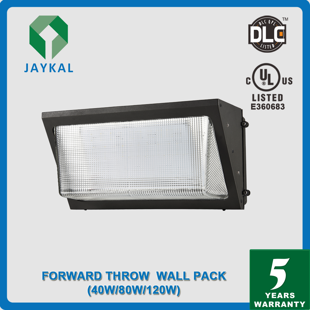 40W Led Wall Pack Led Outdoor Commecial Lights Fixtures 5 Years Warranty