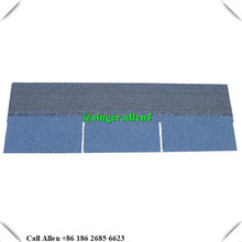 3 tab shape Harbor Blue colour asphalt shingles waterproof material roofing