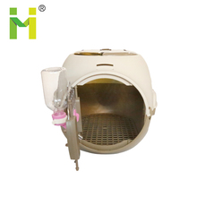 hot sale plastic luxury pet travel dog cage with water dispenser