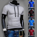 New Summer Mens Casual Style Hoodies Short SleeveT-shirt