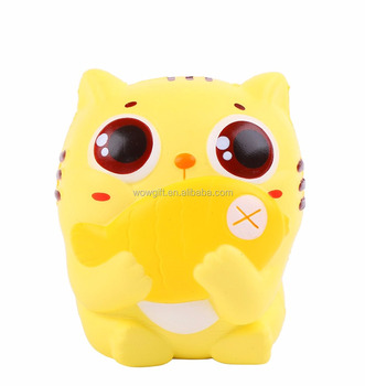 Eat Fish Cat Jumbo Kawaii Squishies Slow Rising cat eat fish Soft Scented Toys Squishy Kids Adult Gift