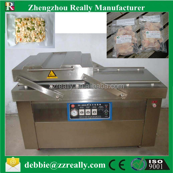 Two chamfer food vaccum packing machine