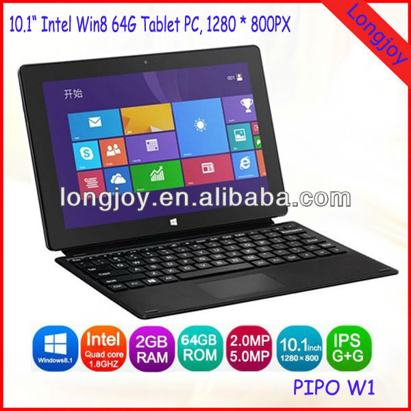 "10.1"" Intel Quad Core Windows8 Tablet PC 64GB Best Quality with Best Price"