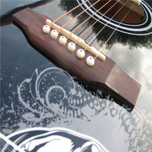 The Black Round Back 6 Strings Students Beginner Acoustic Guitar For Sales