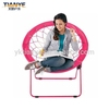 Folding round outdoor moon chairs, little metal chair for garden
