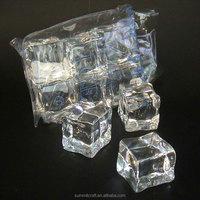 Customized acrylic artificial fake ice cube plastic ice cube