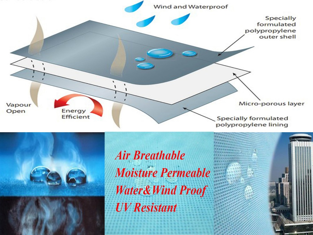 waterproof breathable foil roofing underlay membrane