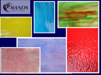 Free sample - various colors stained glass