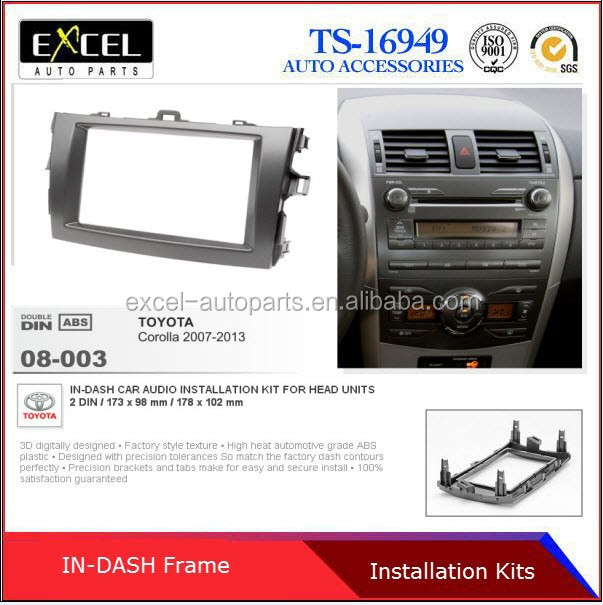 Radio Fascia Panel for Toyota Corolla Stereo Facia Dash CD Trim Installation Kit