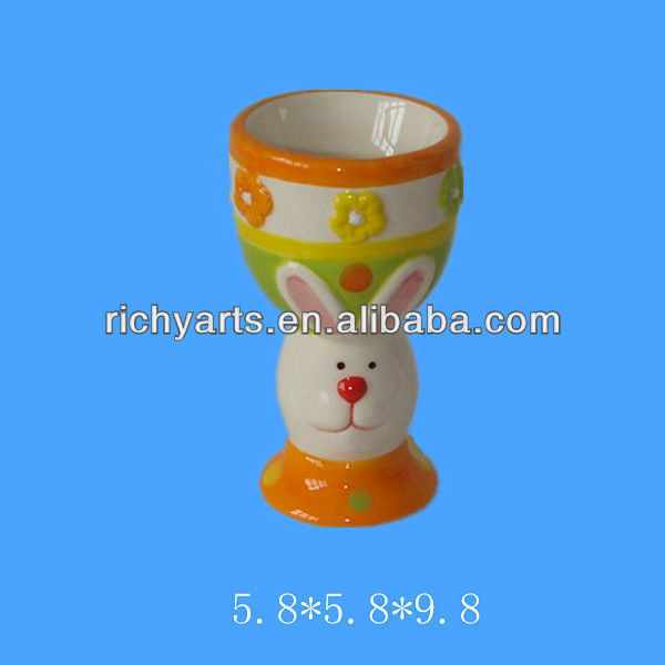 wholesale easter ceramic egg cup holders