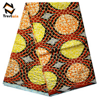 trustwin wholesale veritable dutch wax block prints fabric african kente wax fabric textiles 6 yards for garment