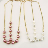 Bohemia Hair Jewelry Factory Wholesale Strand Big Pearl Three Wire Line Headbands For Women