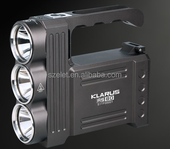 Lightweight IPX8 Super bright 3XM-L2(<strong>U2</strong>) LEDs LED Spotlight/LED Flashlight Torch with a output of up to 3450 lumens