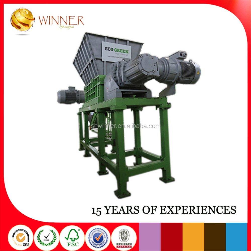 Wood Tyre Shredder plastic vegetable and fruit shredder Automatic