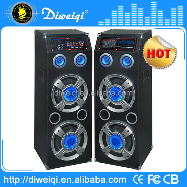 2.0 professional powered dj floor standing speakers with USB / SD / FM / EQ