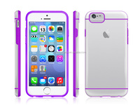 2015 transparent phone cases tpu pc hybrid for iphone 6