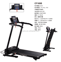 Gym equipment folding mini fitness treadmill with LCD